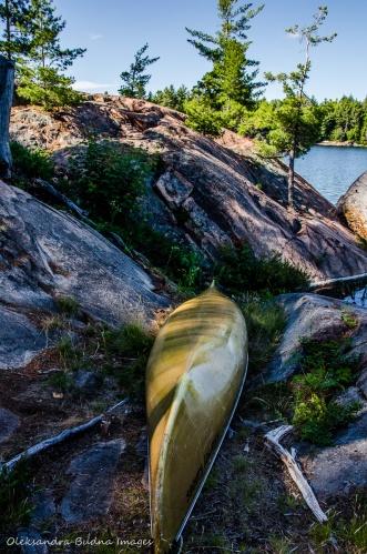 canoe on the shore