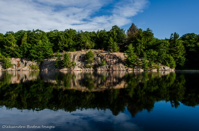 perfect reflections on Carlyle Lake in Killarney