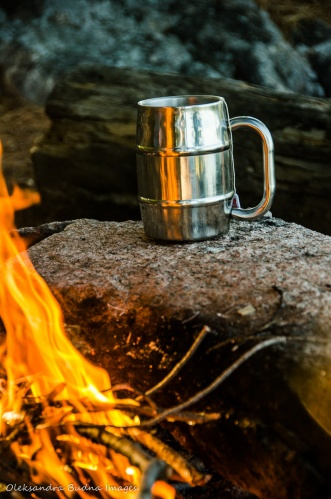 cup of tea near the campfire