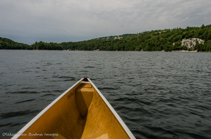paddling on Kakakise Lake in Killarney