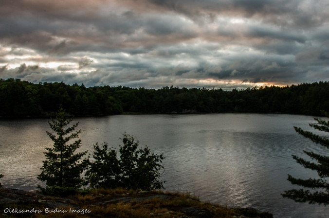 before sunrise on Terry Lake in Killarney
