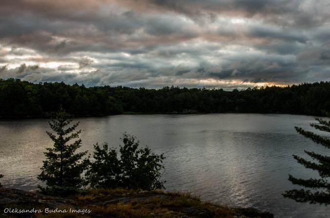 before sunrise on Terry Lake in Killarney
