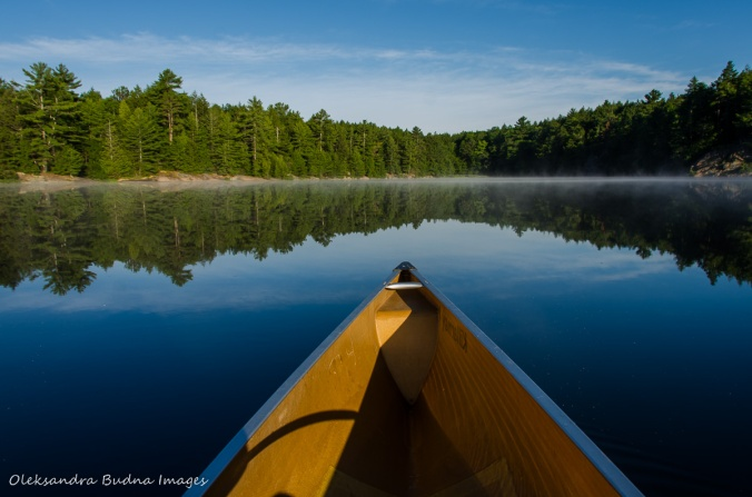 canoeing on Terry Lake in Killarney