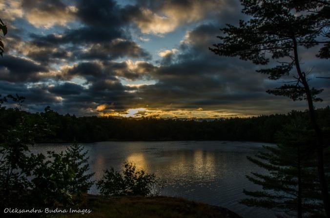 sunrise on Terry Lake in Killarney