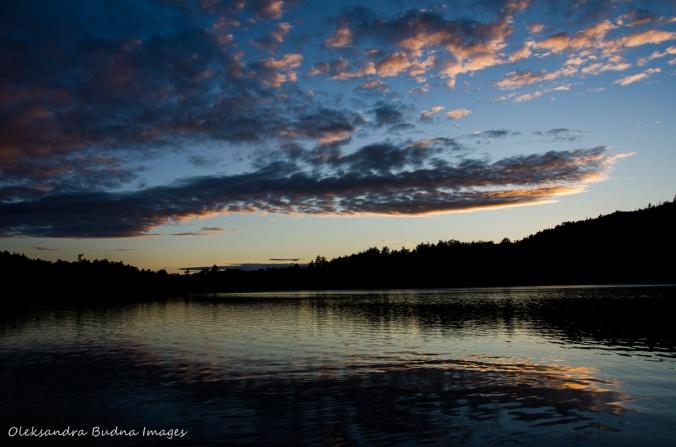 Boundary Lake in Killarney in the evening