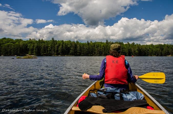 paddling on David Lake in Killarney