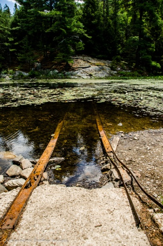 old marine railway on portage from Balsam to Three-mile lake