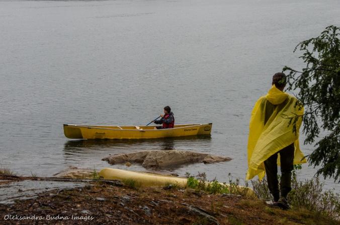 canoeing on Boundary lake in killarney
