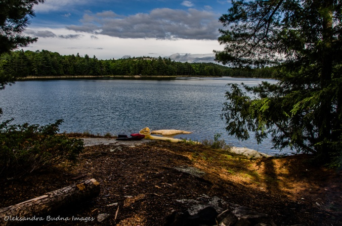 view of Boundary Lake from site 110 in Killarney