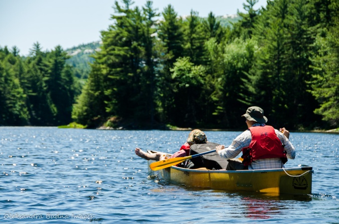 paddling on Bell Lake in Killarney