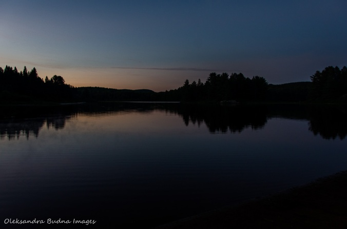 Kearney Lake in Algonquin after sunset at