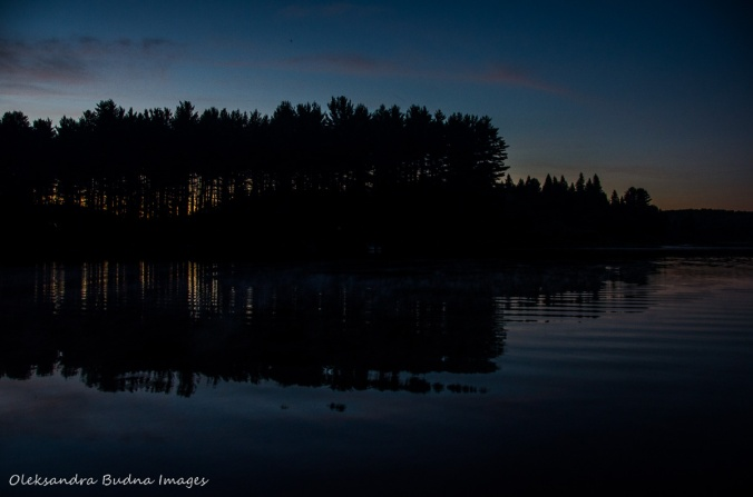 Kearney Lake in Algonquin after sunset
