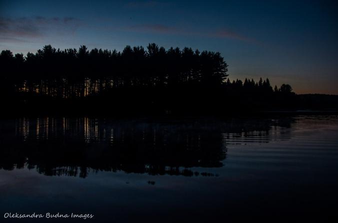 Kearney Lake in Algonquin after sunset