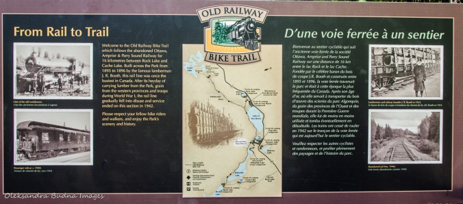 Old Railway bike trail map in Algonquin