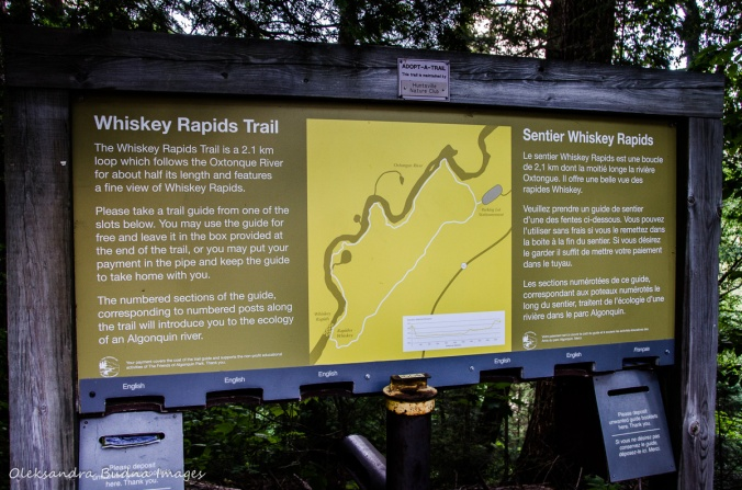 Whiskey Rapids trail map