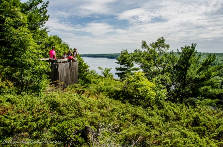 viewing platform at Cliff Top trail at Bon Echo