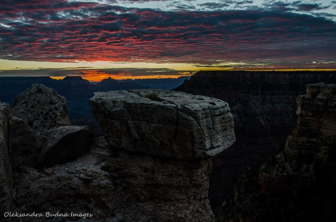 sunrise from Mather Point at Grand Canyon
