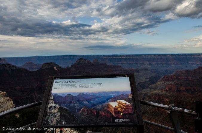 information panel at Grand Canyon