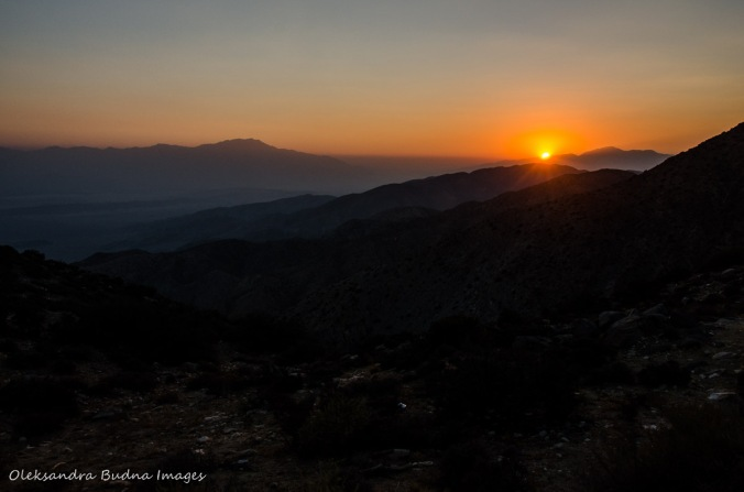 sunset from Keys View Point at Joshua Tree