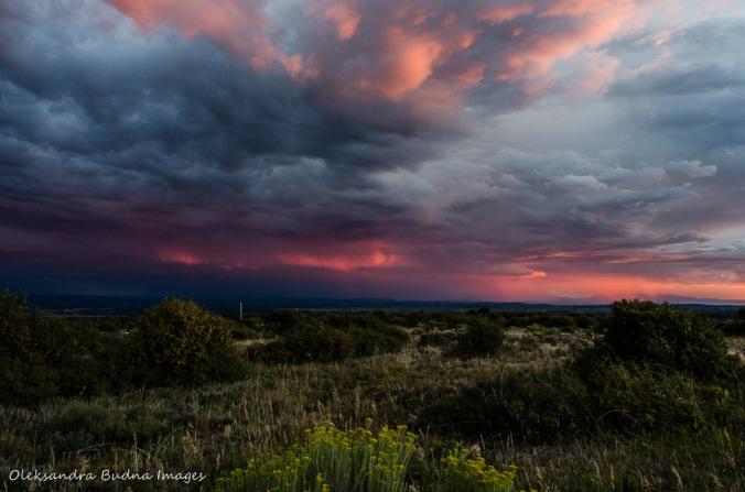 dramatic sunset at Mesa Verde