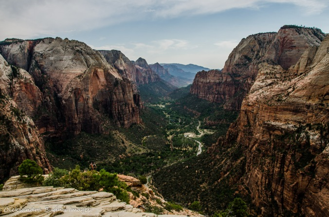 View from Angels Landing Trail in Zion