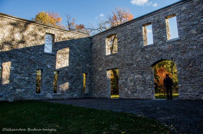 Hermitage Ruins at Dundas Valley Conservation Area in the fall