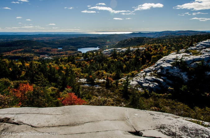 view from Silver Peak in Killarney in the fall