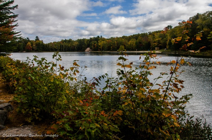 George Lake in Killarney in the fall