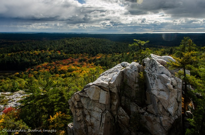 view from the Crack in Killarney in the fall