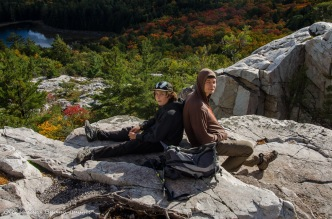 at the top of the Crack in Killarney in the fall
