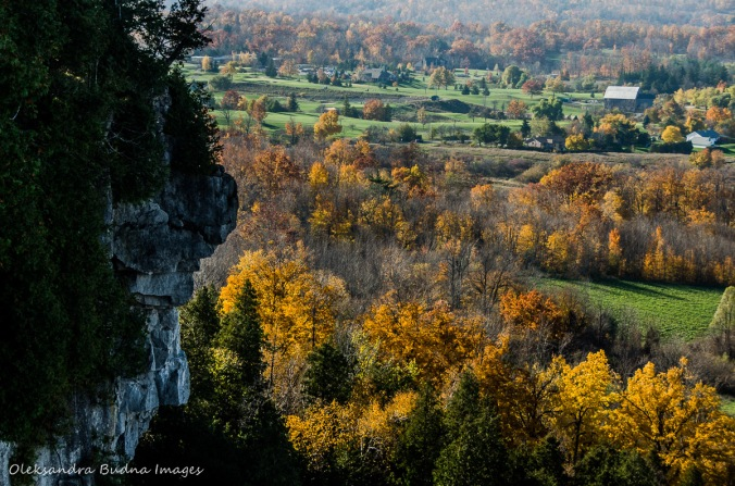 view from Mount Nemo in the fall