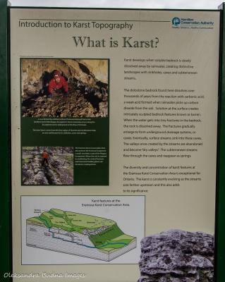 information panel at Eramosa Karst
