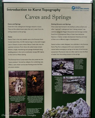information panel at Eramosa Karst