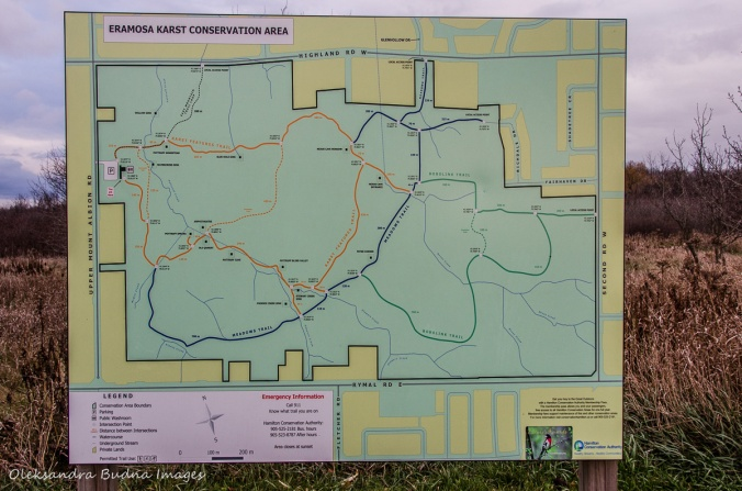 map of Eramosa Karst