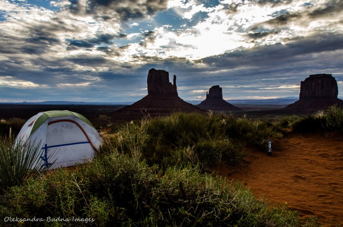 campsite at Monument Valley