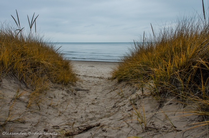 beach at Grand Bend in late fall