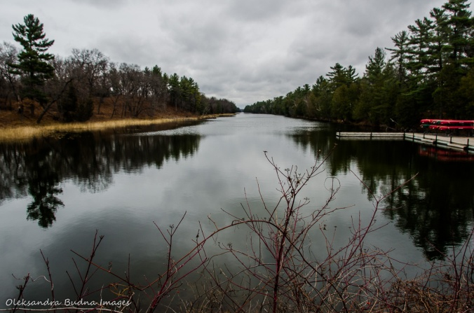 Old Ausable Channel in Pinery in late fall