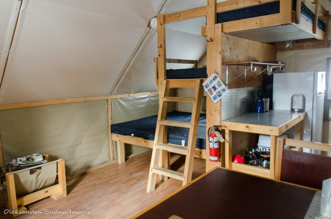 inside a four-season tent in Gatineau