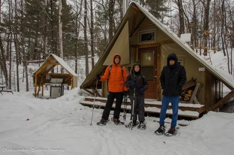 four-season tent 258 at Gatineau Park