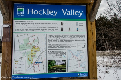 Hockley Valley Provincial Park info panel
