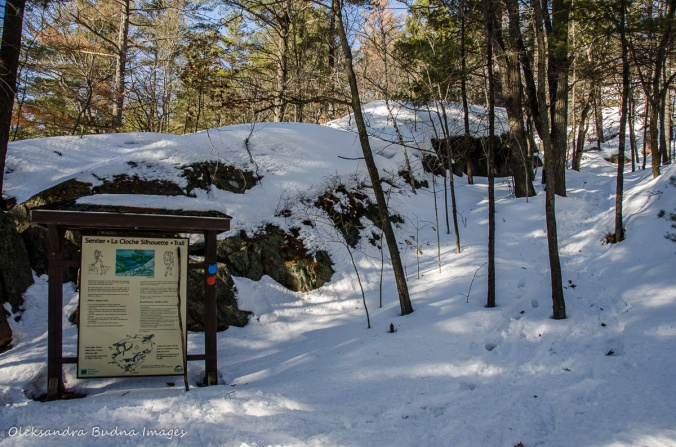 La Cloche Silhouette Trailhead in Killarney in the winter
