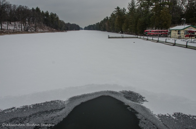 frozen Old Ausable Channel at Pinery