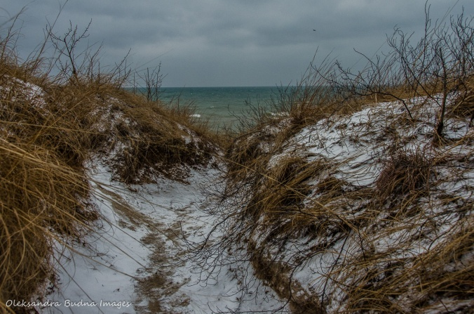 Lake Huron in the winter at Pinery