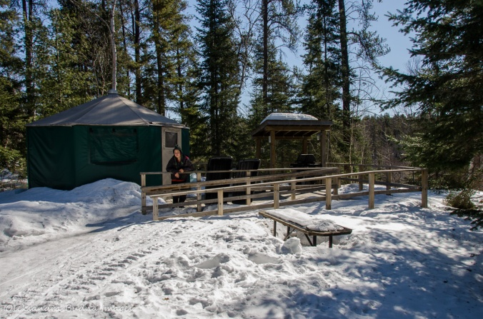 yurt at Windy Lake Provincial Park