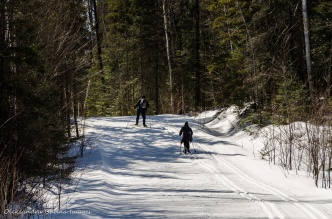 skiing at Windy Lake Provincial Park