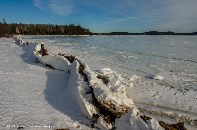 Windy Lake in the winter