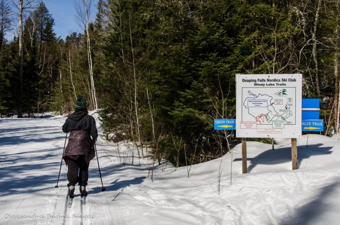 skiing at Windy Lake Provincial Park
