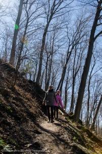 hiking at Devil's Punchbowl Conservation Area