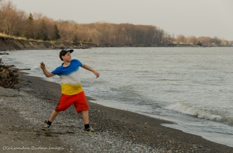 skipping stones at Wheatley Provincial Park