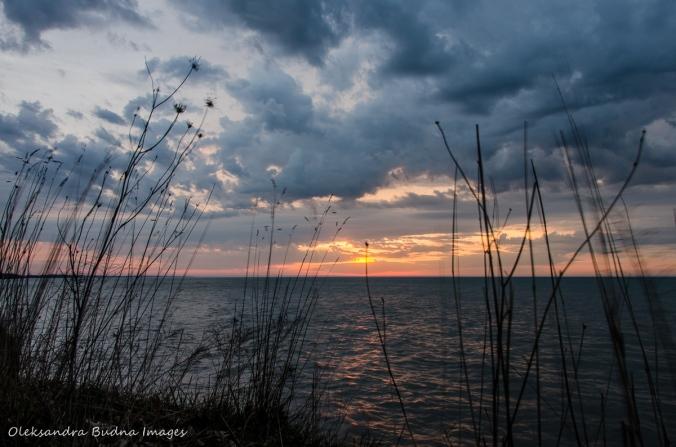 sunrise over Lake Erie at Wheatley Provincial Park